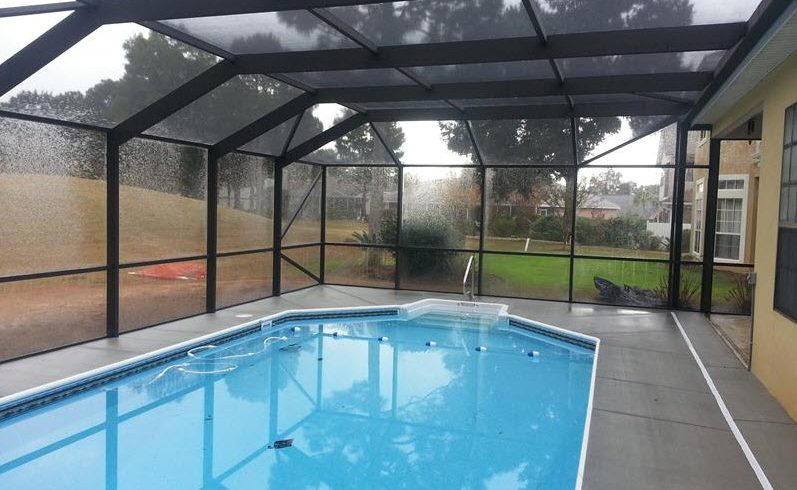 Screened Pool Enclosure Breeze Enclosures Gulf Breeze