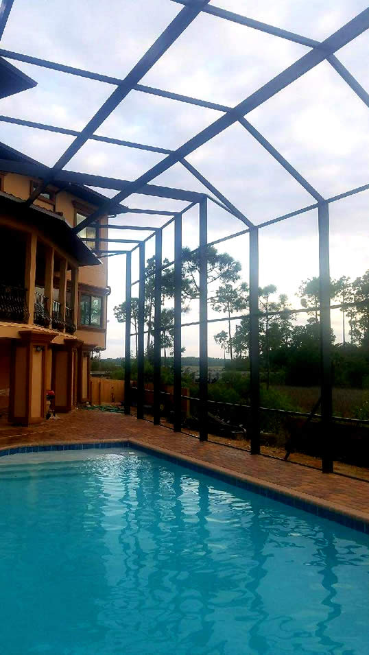 Screen Pool Enclosure Breeze Enclosures Servicing The Florida Gulf Coast